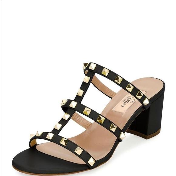 a60b42aab77 Valentino Rockstud caged 60mm sandal slide 40. M 5b2c5d1ba5d7c6d75812ff77